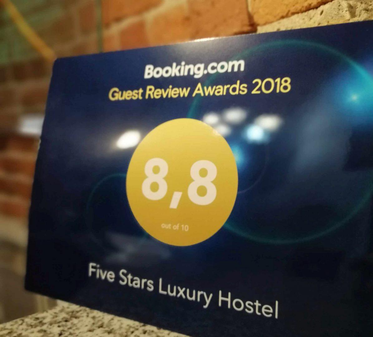 5 stars ocena booking